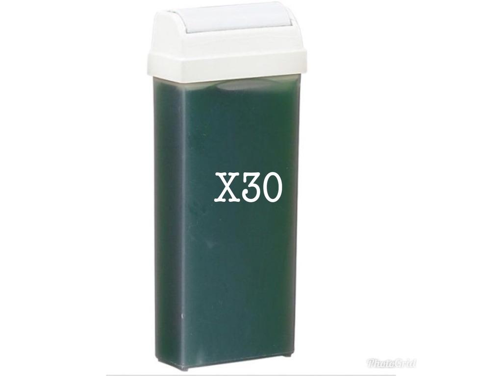 Lot de 30 Cartouches Cire Verte 110ml