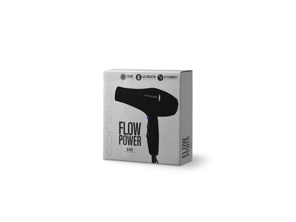 Corioliss Flow Power Black Gloss Sèche-Cheveux