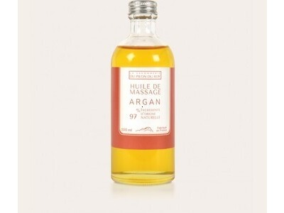 Huile massage Argan - La Savonnerie du Pilon du Roy 100ml