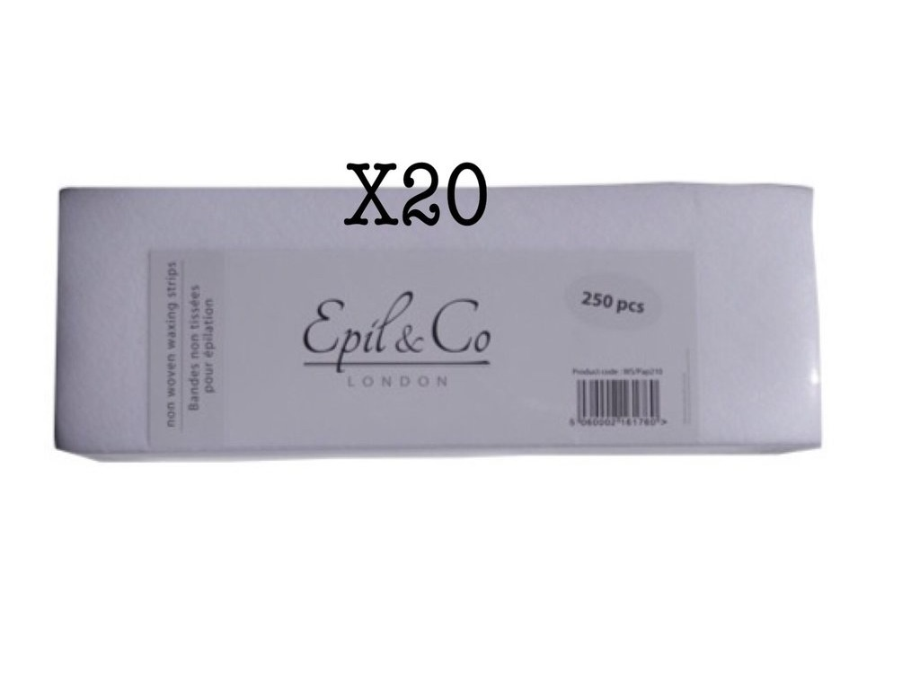 Lot de 20 Paquets Bandes Epilation x250