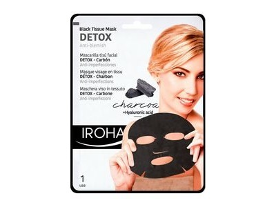 Masque Tissu Détox Charbon Iroha 23ml