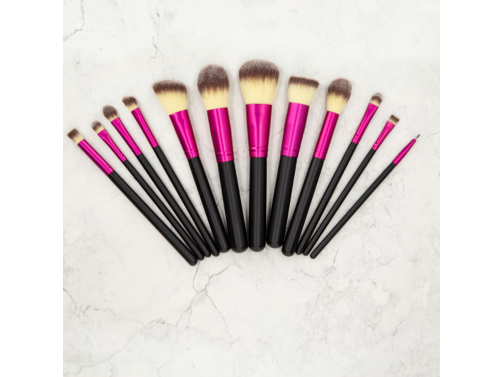 Set de 12 Pinceaux Maquillage Pink MIMO TB