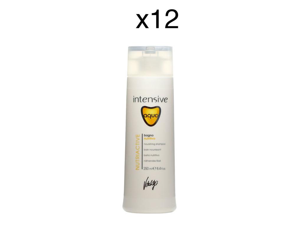 Bain Aqua Nutriactive 250ml - Lot de 12